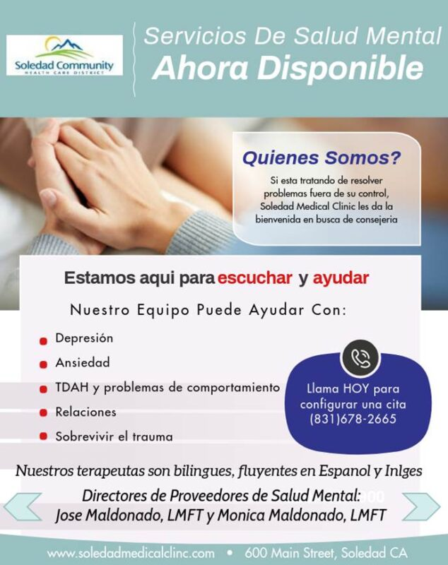 SMC Mental Health Services flyer Spanish