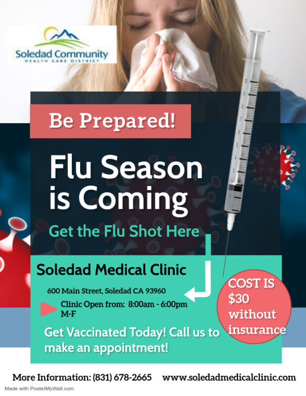 Flu Shot Flyer English