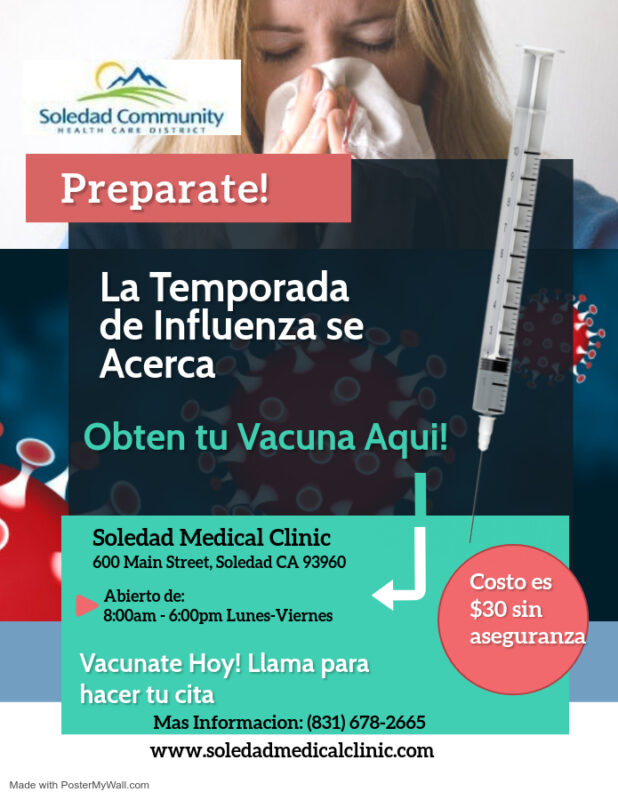 Flu Shot Flyer Spanish