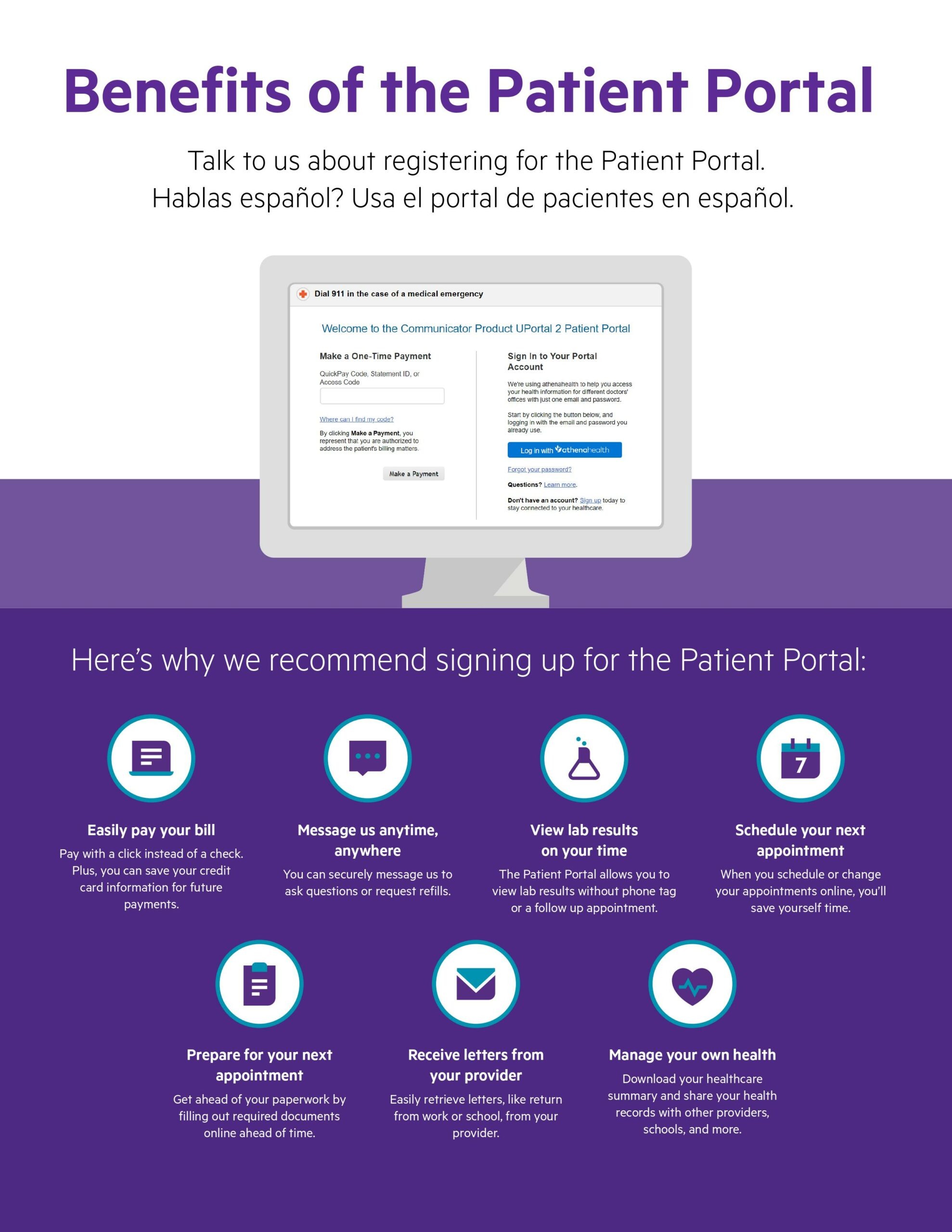Benefits of the Patient Portal English
